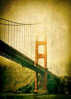 Golden Gate Bridge canvas texture-Dark