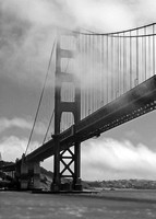 Golden Gate Bridge Black and White