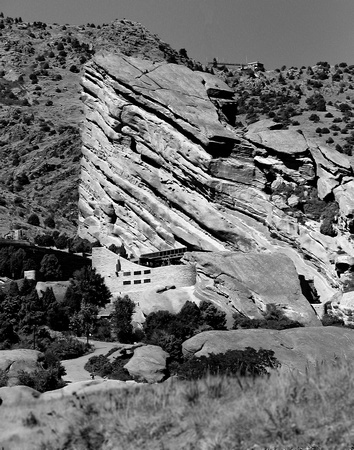 Red Rocks Amphitheater Black and White