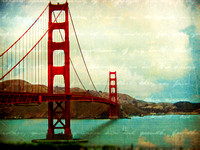 Golden Gate Bridge Teal